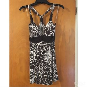 Fun jungle animal print tank